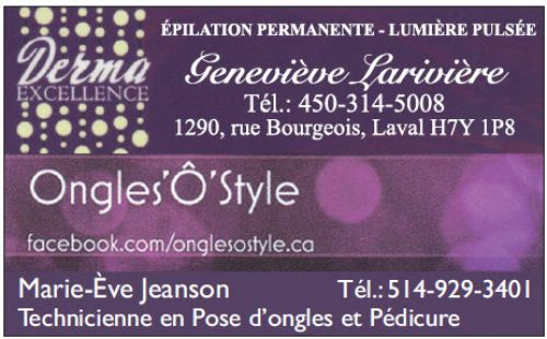 Derma Excellence - Ongles 'Ô' Style à Laval