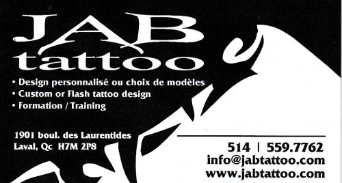 JAB tattoo à Laval