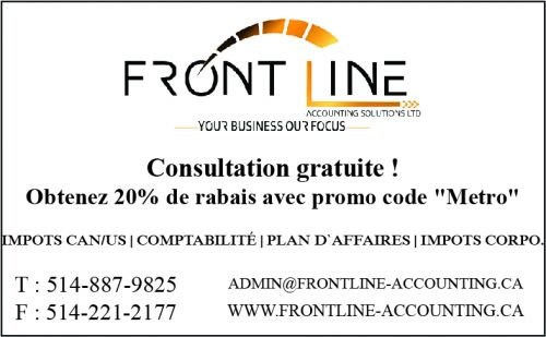 Frontine Accounting Solutions Ltd à Laval